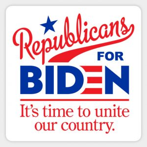 Republicans for Biden badge
