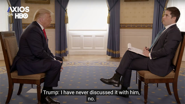 Trump admits he never discussed bounties on US troops with Putin