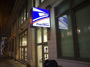 editorial illustration post office